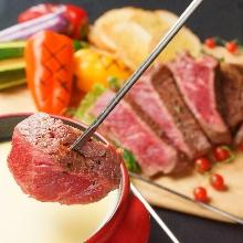 고기 치즈 퐁듀