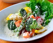 따뜻한 야채 샐러드