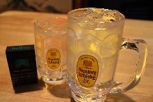 kaku 30cc  with soda or W-size kaku 60cc with soda