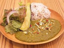 시금치 캐슈넛 카레(비건)