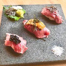 모둠 고기 초밥