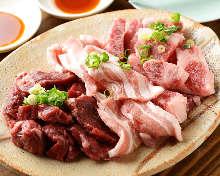 고기 숯불 구이 모둠
