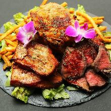 모둠 고기 요리 3가지