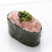 다진 참치 파 군함 초밥