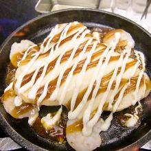 새우 철판 구이와야채 포함