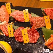 모둠 와규 고기