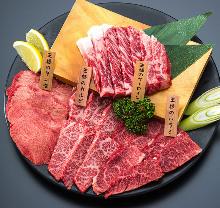 고기 구이 모둠 4가지