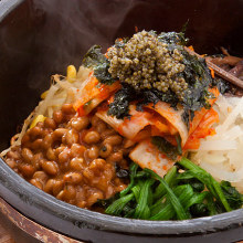 낫또 돌솥 비빔밥