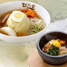 모리오카 냉면 미니 돌솥 비빔밥 세트