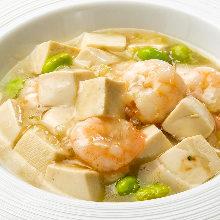 盐炖虾豆腐