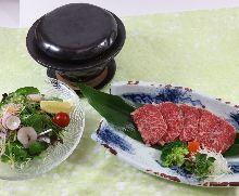 石锅炙烤和牛