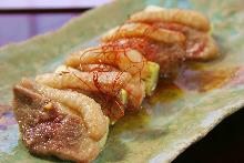 香葱烤鸭肉