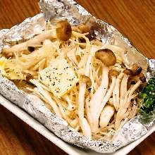 黄油烤蘑菇