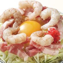 猪肉鲜虾御好烧
