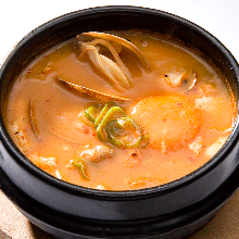 韩式辣锅豆腐面