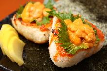 烤饭团 佐海胆