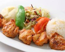 中东烤鸡肉串