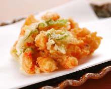鲜虾炸什锦