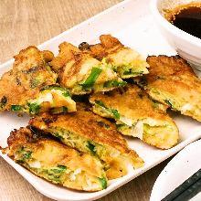 香葱韭菜煎饼