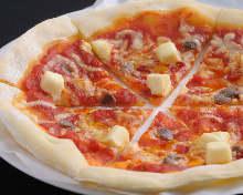 凤尾鱼奶油奶酪披萨
