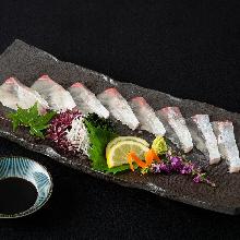 温泉蛋和生火腿沙拉