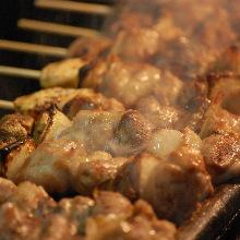 5种烤鸡串拼盘