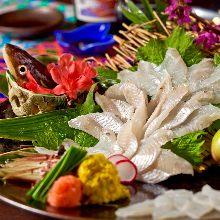 活鳗鱼生鱼片