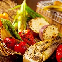 七轮日式炭烤5种蔬菜