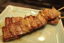 五花猪肉烤串