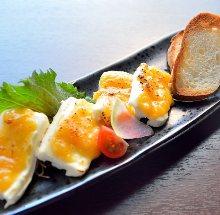味噌渍奶油奶酪 配长棍面包