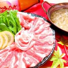 猪肉香葱涮涮锅