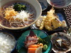 天妇罗 生鱼片 日式荞麦面膳食