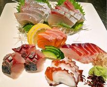 5种生鱼片拼盘