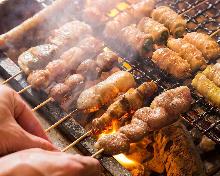 6种烤鸡串拼盘