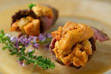 海胆烤牛肉卷