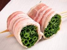 香葱猪肉卷烤串