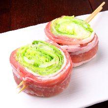 猪肉卷莴苣串