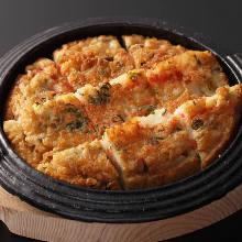 韩式芝士年糕煎饼