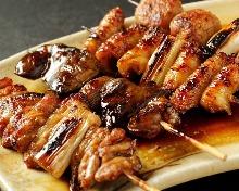 烤鸡串拼盘