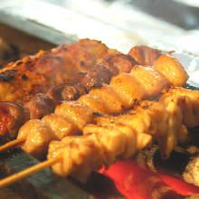 烤鸡串(盐或者酱汁)