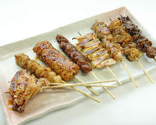 8种鸡肉烤串拼盘