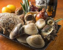 烤带壳角蝾螺