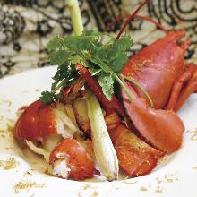 铁板烤活大螯虾