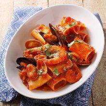 茄汁海鲜意面