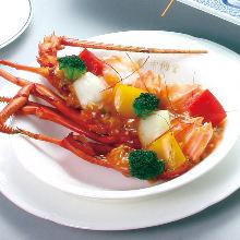 辣椒酱大虾