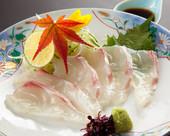薄切鲷鱼生鱼片