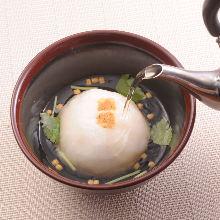 鸡肉大福茶泡饭