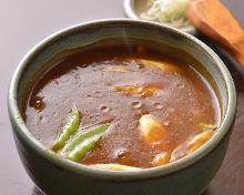 咖喱香葱荞麦面