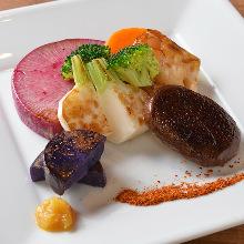 3种烤蔬菜拼盘