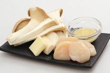 黄油烤蘑菇扇贝